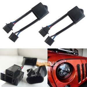 2pcs H4 To H13 Jeep Wrangler Jk Anti Flicker Canbus Decoders For Led Headlights
