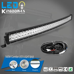240w 42 Curved Spot Flood Combo Led Light Bar Driving Suv Ute Offroad Wiring