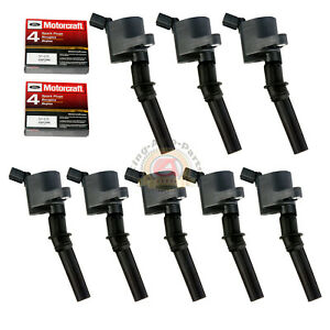 8 Pack Ignition Coil Dg508 Motorcraft Spark Plug Sp479 For Ford Lincoln Mercury