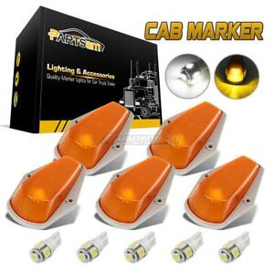 5pcs Classic Amber Cab Roof Marker Running Lamps Led Light Bulbs For Truck 4x4