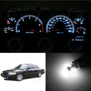 White Instrument Cluster Led Lights Speedometer Bulb For 98 05 Crown Victoria