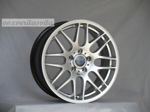 Brand New Set Of 4 Wheels 18 Csl Style Hyper Silver Fits Bmw 3 4 5 Series