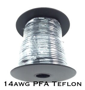 14awg Pfa Teflon Black Stranded Wire 100ft