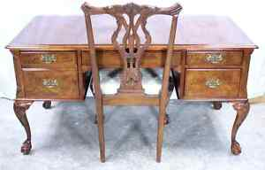Thomasville Vignettes Chippendale Writing Desk With Matching Chair