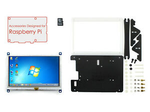 Accessories Pack For Raspberry Pi 5inch Hdmi Lcd b 16gb Sd Card Bicolor Case