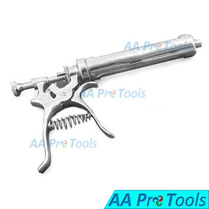 Aa Pro Roux Revolver Syringe Veterinary Instrument Tool Stainless Steel 50ml