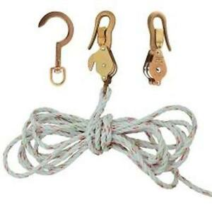 Klein Tools H1802 30ssr Block And Tackle With Guarded Snap And Swivel Hooks And