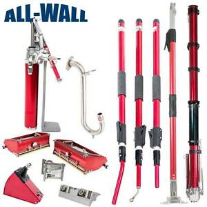Level5 Drywall Taping finishing Set W extendable Handles Taper Boxes Corners