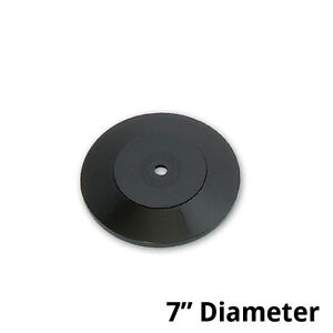 Count Of 10 New Black Plastic Revolving Display Base 7 Dia X 0 75 h