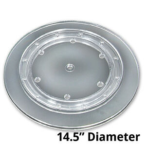 10 Pc New Clear Plastic Revolving Display Base 14 5 Dia X 0 75 h