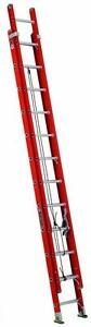 Louisville Ladder L 3025 24 Fiberglass Multi section Extension Ladder 24 Ft