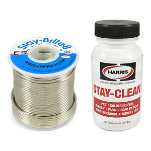 Harris Solder Kit Sb831 Scpf4 Stay brite 8 Silver Bearing Solder With Flux