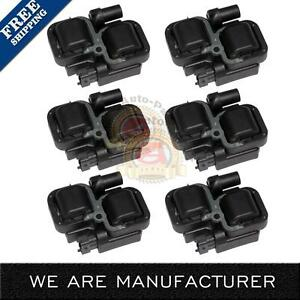 6 Ignition Coil On Plug Coils Pack For Mercedes benz S350 C Clk Ml Class Uf359
