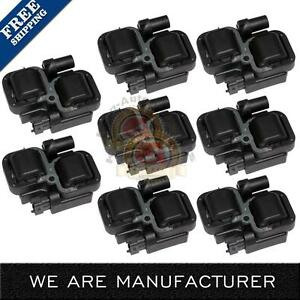 Pack Of 8 Ignition Coils For Mercedes benz C Cl Clk Ml Class Uf 359 A0001587303