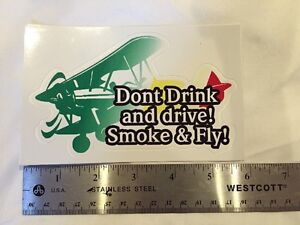 Smoke And Fly Decal Sticker
