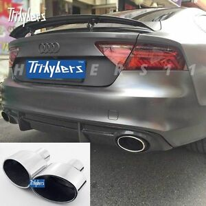 2 5 Inlet Duplex Oval Exhaust Tip For Audi Rs4 Tt Rs Rs6 Rs5 Rs style