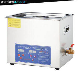 New Stainless Steel 30l Liter Industry Heated Ultrasonic Cleaner Heater Timer
