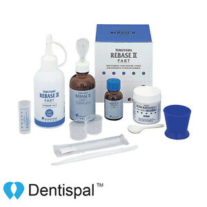 Tokuyama Rebase Ii Kit Chairside Hard Denture Linings Powder Liquid Kit 20506