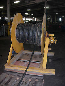 Air Tugger winch For Wire With A 18 Hp Gardner Denver Air Motor used