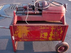 Rigid 500 Pipe Threader used Working