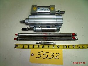 Bimba Pneumatic Cylinders Small Mixed Lot