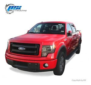 Black Sand Blast Textured Rugged Street Fender Flares 2009 2014 Ford F 150