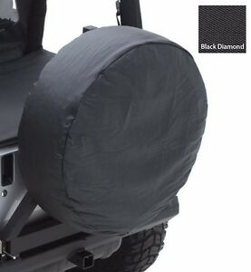 Smittybilt Durable Black Diamond Spare Tire Cover For 30 32 Tire Sizes 773235