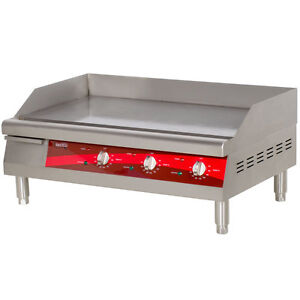 30 Stainless Steel Electric Restaurant Countertop Flat Top Griddle