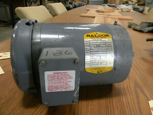 Baldor 1 Hp Motor New