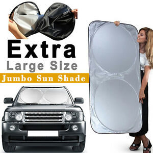 Foldable Jumbo Suv Windshield Sun Shade Cover Window Car Truck Front Visor Block