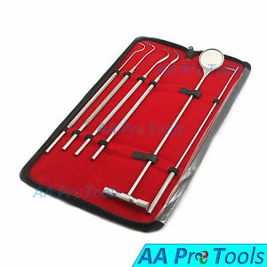 Aa Pro Equine Dental Mirror Scaler Probe Explorer Veterinary Kit set Ss