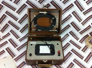 Vintage Hasting Air Meter Model H 2 With Probe And Beautiful Wood Case