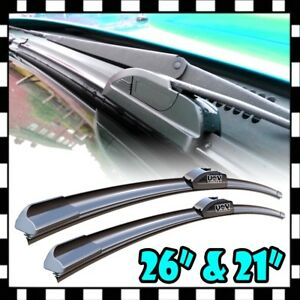 New J hook 26 21 Premium Bracketless Windshield Wiper Blades Pair All Season