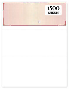 Blank Check Paper 1500 Sheets High Security Maroon Top Refill Form 1000