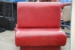 Local Pickup Double Sided Single Restaurant Booth Seating Heavy Duty Red Leather