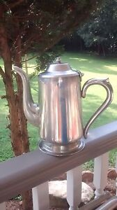 Vintage Silver Plated Coffee Pot Or Hot Water Teapot