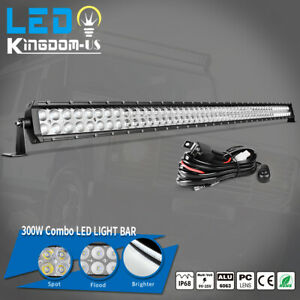 52inch 700w Spot Flood Led Work Light Bar Offroad Driving Suv Atv Car 4wd Boat