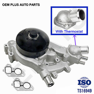 Engine Water Pump For Gmc Chevy Cadillac Hummer 4 8l 5 3l 6 0l 6 2l Thermostat