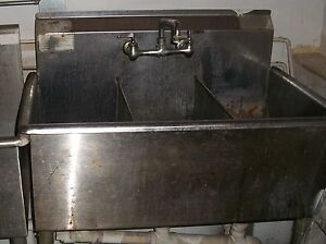 Commercial Stainless Steel Sink 3 Sections