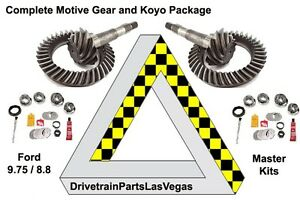 Ford 8 8 8 8 Ifs 4 56 Ratio Ring And Pinion Gear Set Pkg W Master Kits
