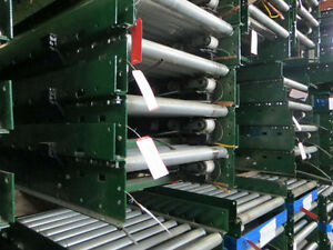 25 W X 12 L Gravity Roller Conveyor siemens Dematic W 3 5 Rail