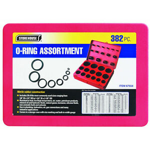 New Sae Metric Rubber O ring Washer Assortment Kit With Storage Case Oring