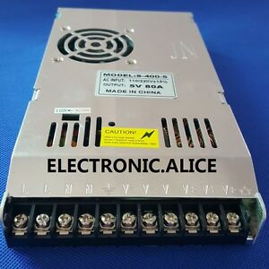 400w 5v 80a Switching Ultrathin Power Supply Current Control Charger Led Cctv