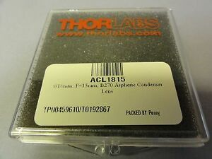 Thorlabs Acl1815 018mm F 15mm B270 Aspheric Condenser Lens