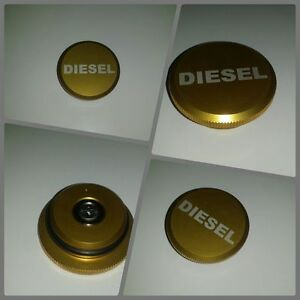 Custom 2013 2016 Dodge Ram Diesel Billet Magnetic Fuel Gas Cap Gold Design