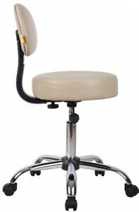 Medical Exam Stool Rolling Seat Chair Adjustable Doctor Dentist Lab Beige Boss