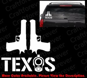 Texas Colt 1911 Barrel Sticker Car Windows Decal Vinyl 2a Ccw Gun Rights Fa055