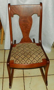 Mahogany Sewing Rocker Rocking Chair Rp R144
