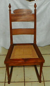 Mahogany Caned Seat Sewing Rocker Rocking Chair Cs R196