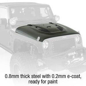Smittybilt Src Stingray Vented And Insulated Steel Hood 07 18 Jeep Wrangler Jk